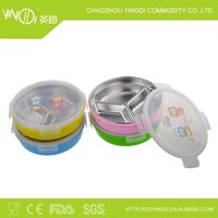 3 compartments round stainless steel food divider plate