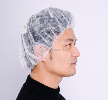 Disposable Safety Bouffant Cap Hair Net 24 quot  for Lab 3fe78a55ba9