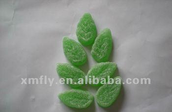 479f024de79 Mint Flavour Leaf Shape Gummy Candy - Buy Sweet Gummy Candy ...