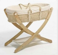 Eco-friendly dolls moses basket and cradle and stand
