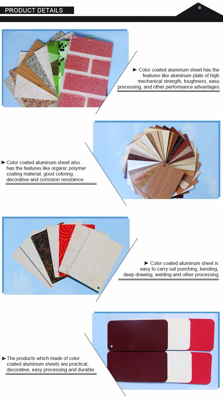 5005 5052  Color coated Aluminum Sheet for Facade Clading