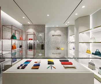 Fashion Hanging Tote Bag Display Cabinet Leather Showcase