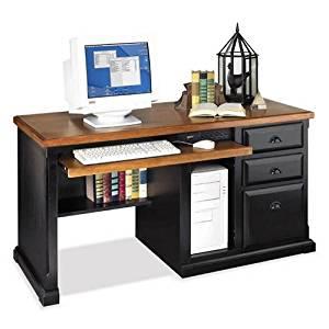 Martin Furniture Kathy Ireland Southampton Onyx Collection Medium Oak Computer Desk