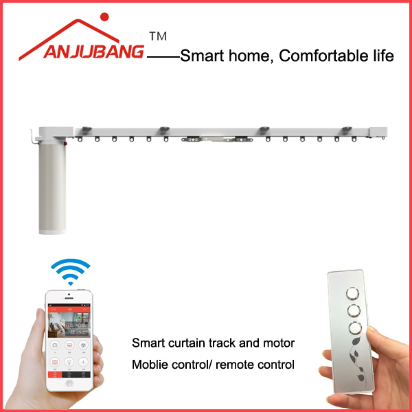 smart home flexible sliding curtain track/cubicle curtain track/window curtain track
