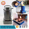 220V 2kg Graphite Crucible 1150C High temperature Small Metal Smelting Kiln