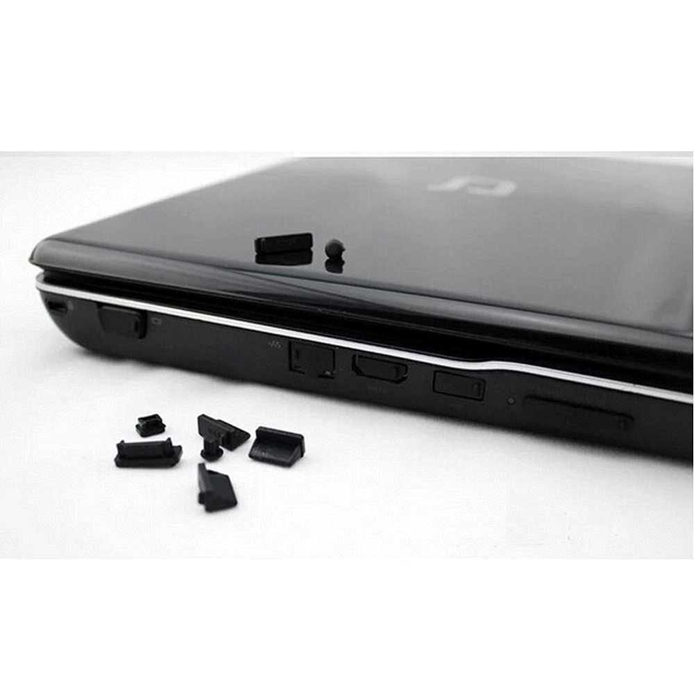 AGPtek® 13pcs Black Silicone Anti Dust Port Plugs Cover for Laptop Notebook