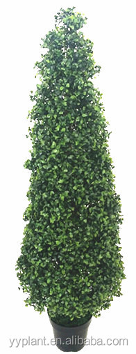 2014 hot selling SGS certification---artificial big size tower-shape tree with lemon seed shape leaves --model 0714