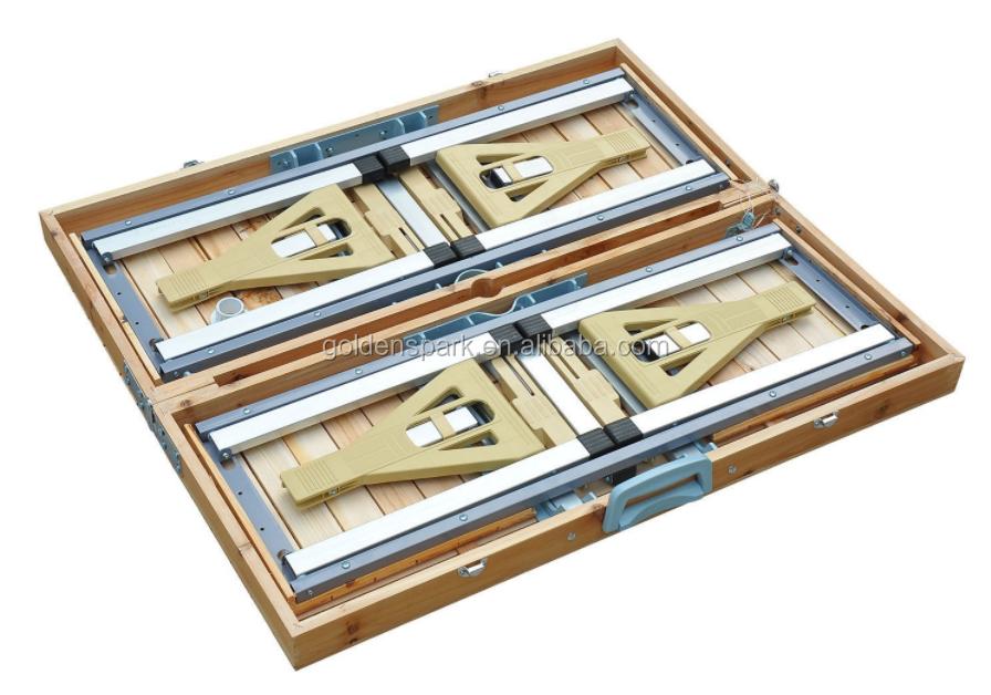 Portable Wooden Outdoor Garden Camping Suitcase Folding