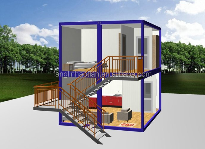 Competitive price flat pack portable cabin container house