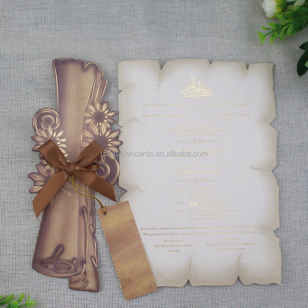 Old English Style Latest Ancient Vintage Card Make Scroll Wedding ...