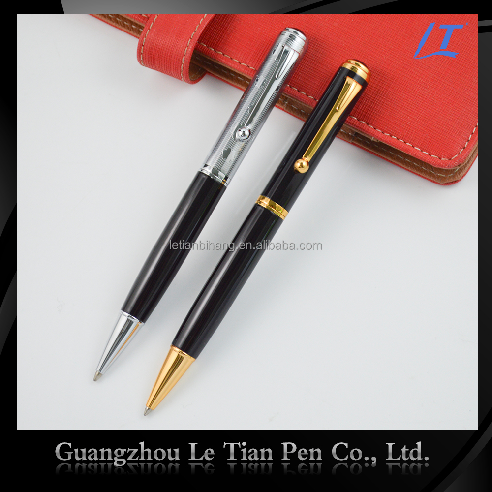 Customzied glitter promotional metal pen for gift