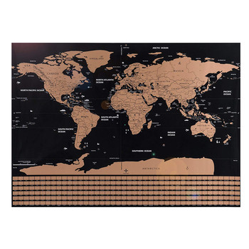 Gold World Map Poster.Custom Deluxe Scratch Off Map Poster Travel Globe World Map With