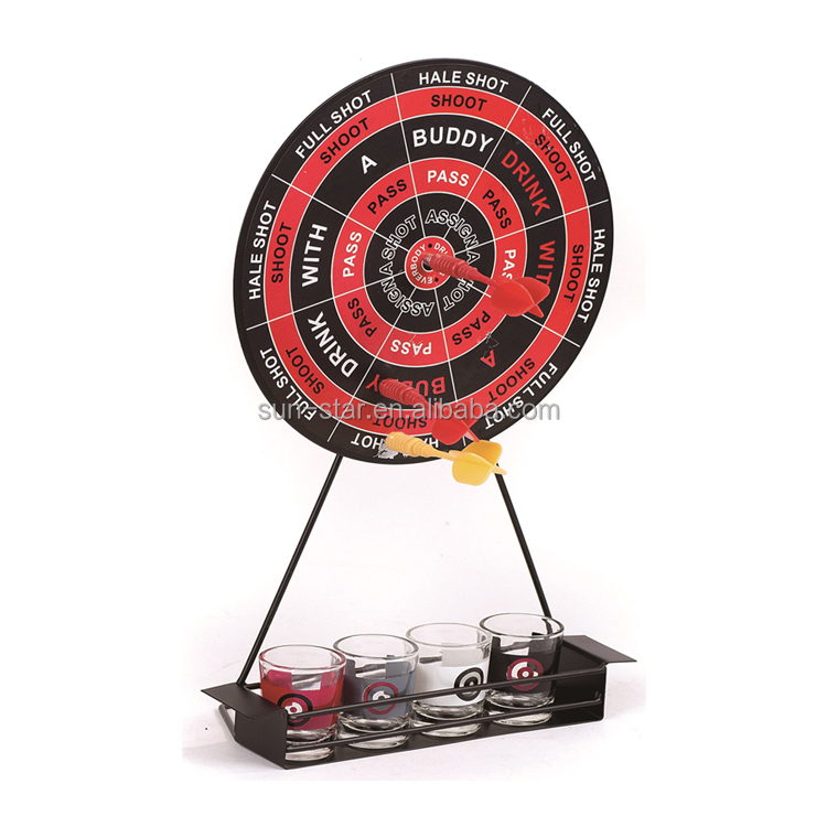 NBSS hot selling party game drinking dart game with 4 glasses