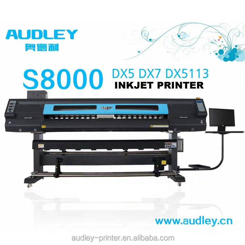 Audley S8000 190cm or 6 ft manufacture two heads fast speed automatic Best Sublimation Printer