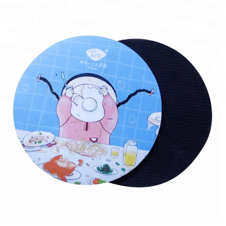 Wholesale Round Silicone Drink PVC Rubber Coaster