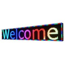 programmable led moving message display billboard sign / full color scrolling led advertising sign