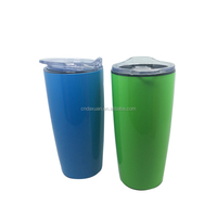 Hot selling personalized double wall plastic 20oz wild mouth tumbler travel mug