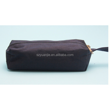 custom logo canvas or plastic pencil case with zipper