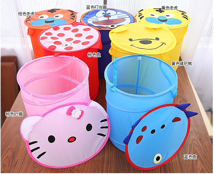 High Quality Laundry Pop Up Hamper Basket Plastic Round