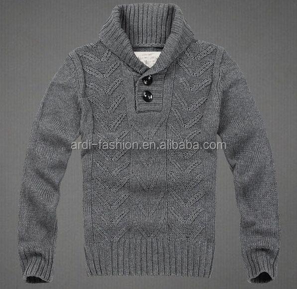 High Quality Fancy Shawl Collar Mens Heavy Wool Sweater - Buy ...