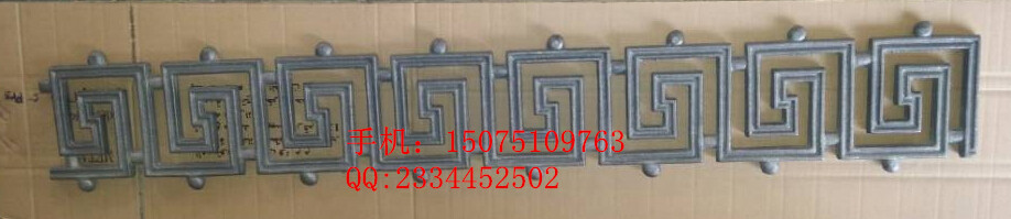 factory producing popular design fence parts cast iron ornament in gate