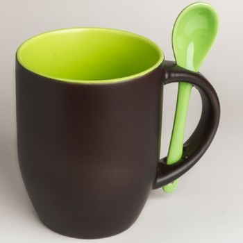 two tone color changing mug customized magic ceramic mugs with spoon