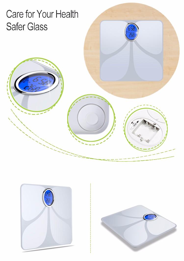 New Design Free App Personal Bathroom Weight Sensor Professional Mini  Bluetooth Body Fat Digital Scale - Buy Professional Mini Bluetooth Body Fat