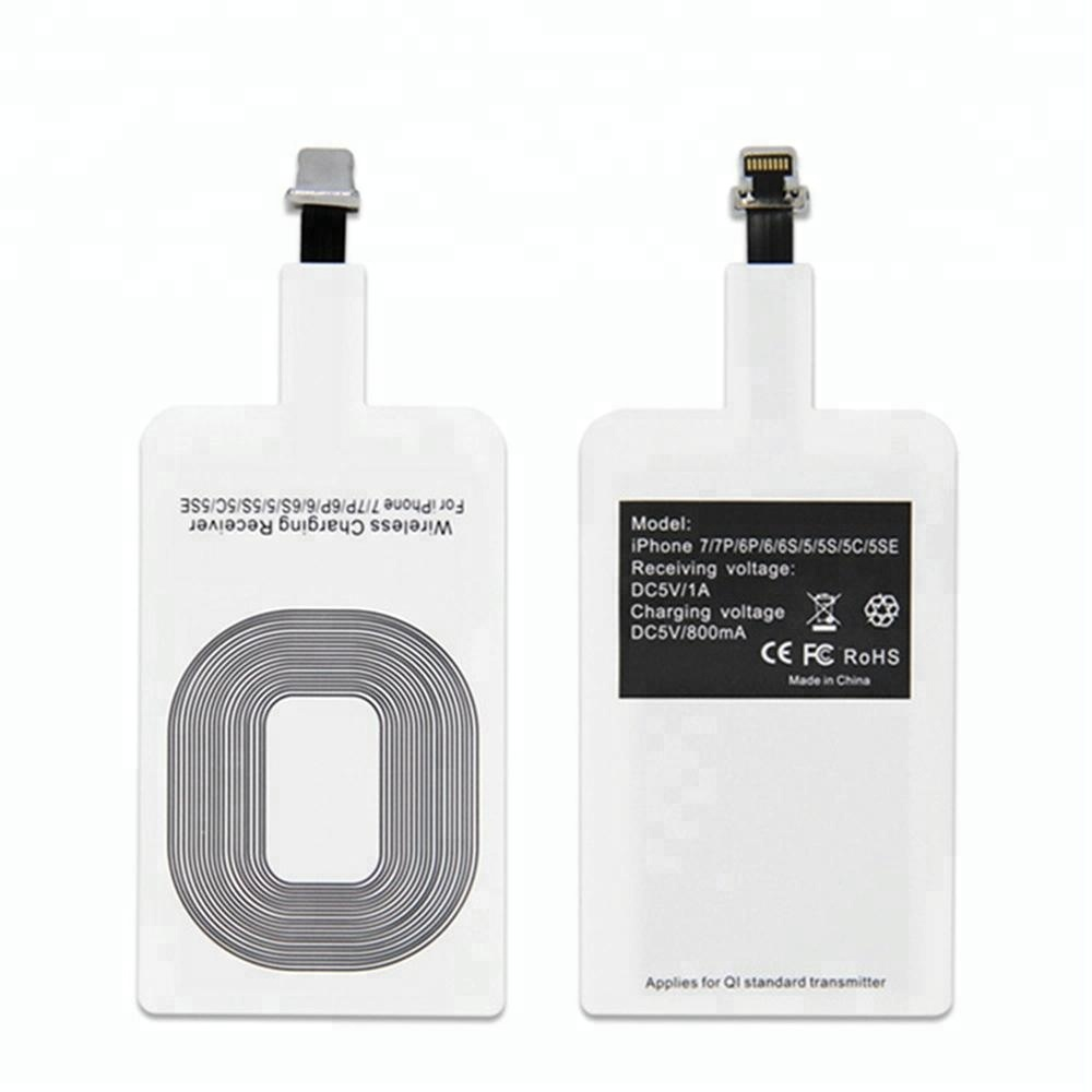 Qi Universal Wireless charger Receiver card for iphoneX phone fast charge