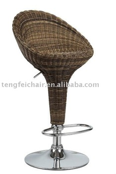 rattan sedia bar con differenza di colore