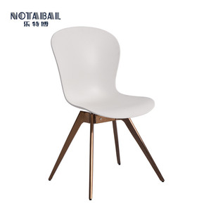 Modern metal plastic dining chairs for restaurant