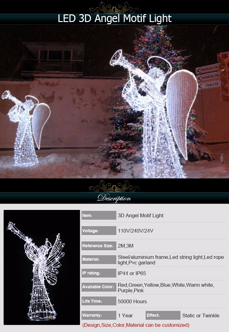 high quality lighted angel outdoor christmas decorations outdoor 3d ice sculpture angel led motif light angel1 angel2