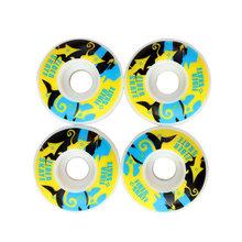 4 шт. скейтборд колеса двойной рокер колеса 52 мм 95A скорость вниз скользящие колеса скейтборд части(Китай)