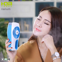 Fashion new portable rechargeable desktop usb humidifier water spray fan mini air cooling fan