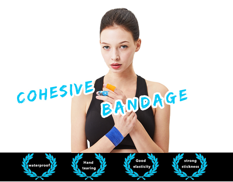 Medical consumables custom camo print non woven cohesive elastic bandage self adhering pain relief coban compression bandage