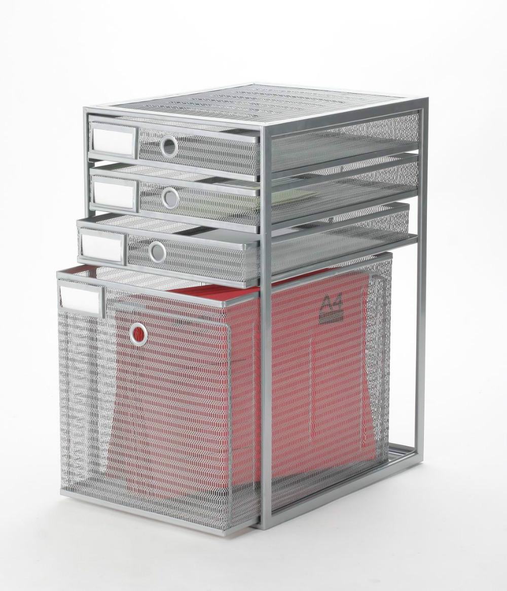 De malla de metal y 4 de caj n de escritorio organizador - Organizador cajon oficina ...
