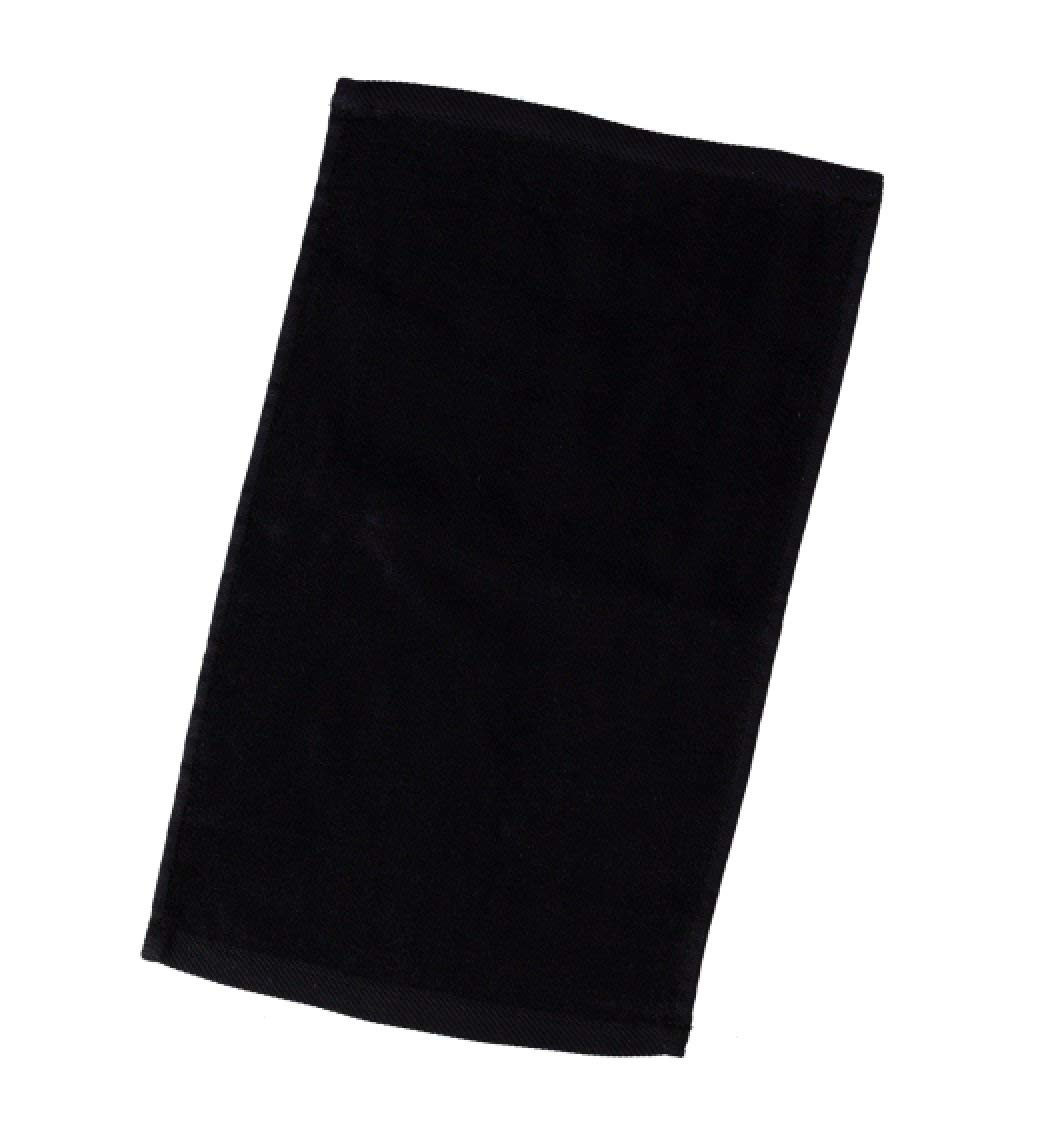 """Georgiabags 6-Pack Economical Towels,Terry Velour Hand Towels 100% Cotton, 11""""x18"""", Hemmed Fingertip, Sport Towel Terry Velour Hemmed Towels (6, Black)"""