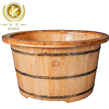 Chinese Natural Cedar Soaking Round Japanese Portable Bathtub Heater