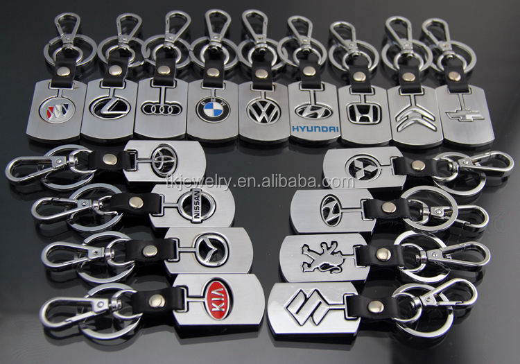 Manufacture Wholesale Car Logo Keychain With High Quality leather Custom Metal Keychain