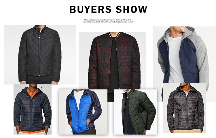 wholesale custom  padded quilted waterproof jacket cheaper warm mens lightweight  jacket
