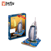 Wholesale kids diy toy 3d Burj Ai Arab paper model puzzle