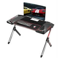Stable height adjustable ergonomic computer desk height adjustable table function For E-sport With Border Design led gaming desk