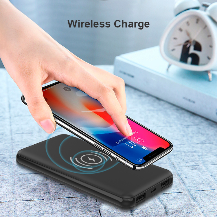 Portable Wireless Qi Power Bank Charger 10000mAh Custom OEM Universal