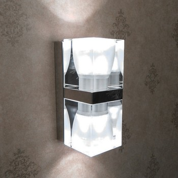 Modern gu10 crystal ice cube up and down wall light for stair modern gu10 crystal ice cube up and down wall light for stair decorative aloadofball Image collections