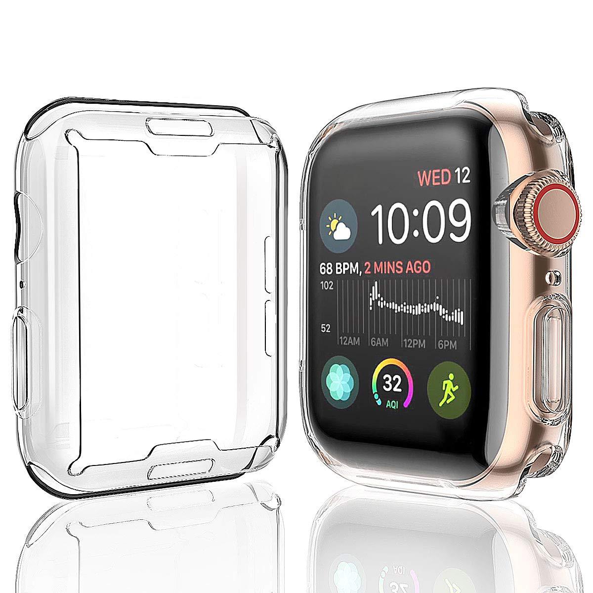 Caso para A Apple Protetor de Tela Relógio Geral Estojo protetor TPU HD Limpar Ultra-Fina Capa para iWatch