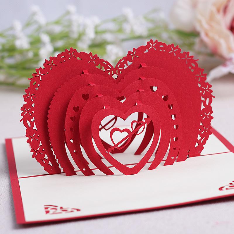 Открытки в форме сердце