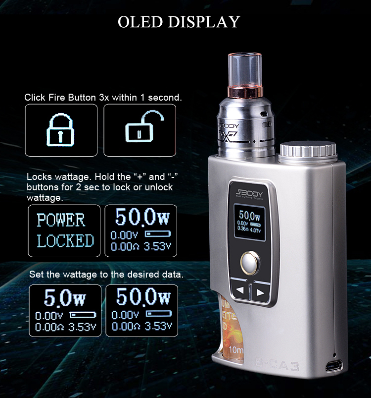 s body dual coil rda squonk vape box mod rechargeable. Black Bedroom Furniture Sets. Home Design Ideas