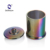 Colorful Customized Color Electroplate Candle Holder Glass