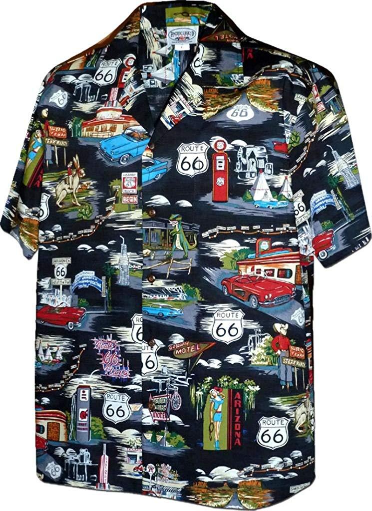 9716e8117 Get Quotations · Route 66 Hawaiian Shirt - Mens Hawaiian Shirts - Aloha  Shirt - Hawaiian Clothing