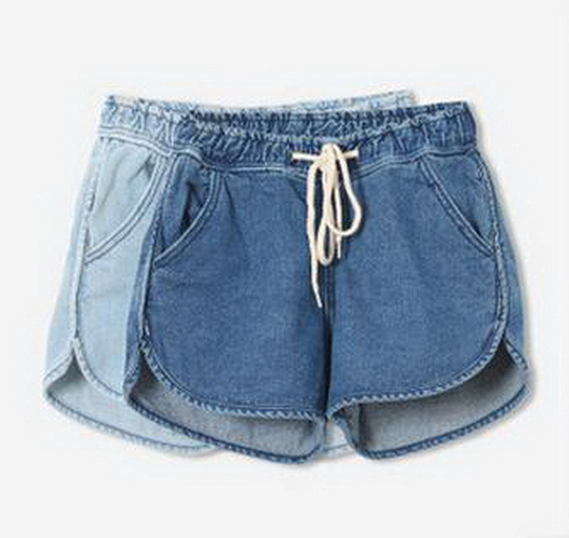 2015 New Fashion Summer Style Women Short Jeans Casual Med Waisted Denim Shorts Vintage Blue Loose  Women Jean Shorts Plus Size