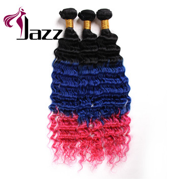 Good looking ombre color human hair extensions customize available brazilian 3 tone color ombre hair weave